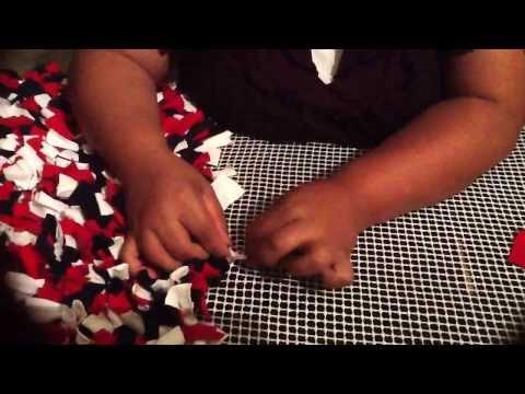 Rag rug tutorial.