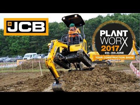 JCB mini excavators at Plantworx 2017