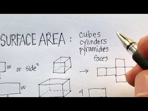 Surface Area: Cubes, Cylinders, Pyramids