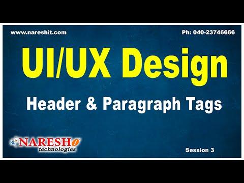Header and Paragraph Tags | UI/UX Design Tutorials | Mr.Naveen