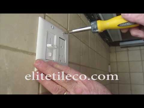 How to  tile around an electrical outlet, Kitchen backsplash