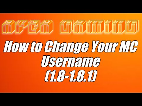 How to Change Your Minecraft PC Username (1.8 - 1.8.1)
