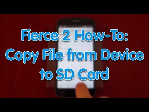 Fierce 2 How-To: Copy File from Device to SD Card