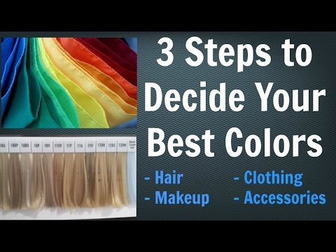 3 Steps to Choose YOUR Best Hair Color for Your Skin Tone, Makeup & Outfit Colors | Color Analysis