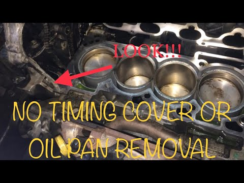 2.5 Nissan Head Gasket WITHOUT REMOVING TIMING COVER AND OIL PAN : How to ep 6