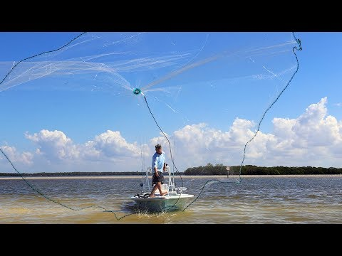 How To Throw a Cast Net   Barracuda Cast Nets - 4K