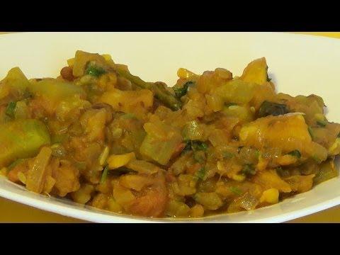 Aloo lauki sabzi- Bottle gouard and potato curry - Sukhi aloo lauki ki sabzi by Home Kitchen