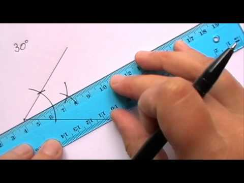 Constructing an Angle of 30 degrees