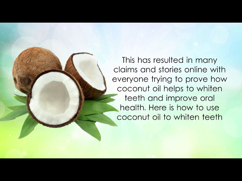How to whiten your teeth with coconut oil -- Oil Pulling Before and After.