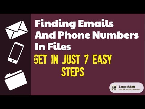 Finding Emails And Phone Numbers in Files  in 7 Easy Steps