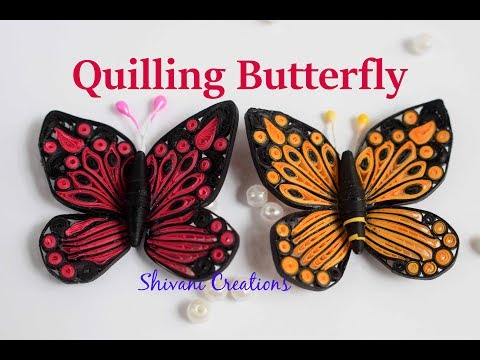 Quilling Butterfly/ How to make Quilled Butterfly/DIY quilled Butterfly