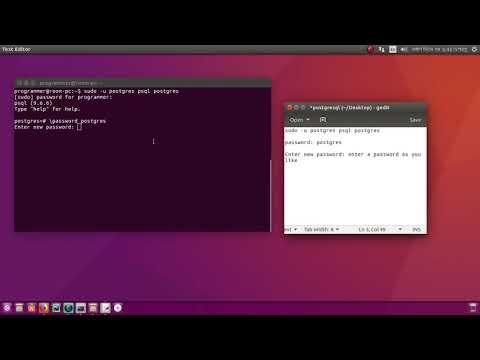 how to change postgresql password in ubuntu 17.04/16.04/14.04/12.04