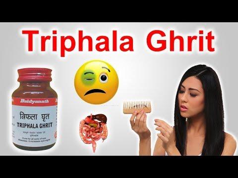 Triphala Ghrit - अपनी आँखों से जुड़ी समस्याएं तथा बाल जड़ने जैसी समस्याओं से हमेशा के लिए छुटकारा।