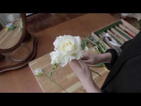 Flowergirl fresh flower wand