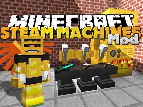 Minecraft - PROFESSOR FLAXBEARD'S STEAM MOD - NEW STEAM POWERED ITEMS