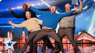 Old Men Grooving bust a move, and maybe their backs! | Britain