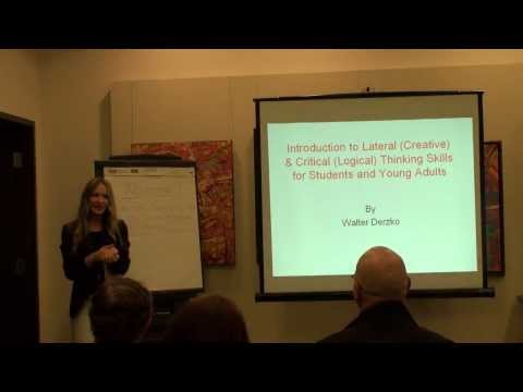 WORKSHOP with Walter Derzko / Introduction to Lateral & Critical Thinking Skills *UCU УКС