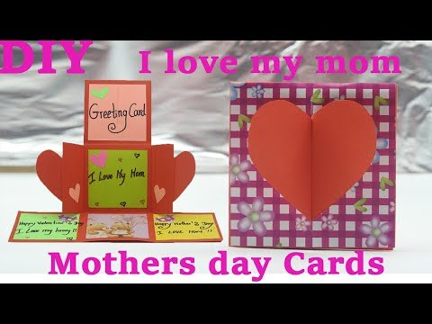 Greeting Cards - How to make mothers day cards, Birthday Cards Idea
