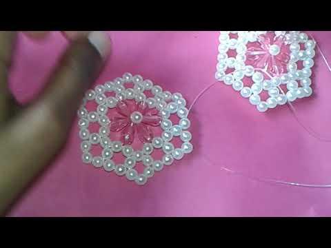 How to Heart shape mini purse making tutorial with beads (Jannatul Ferdous)