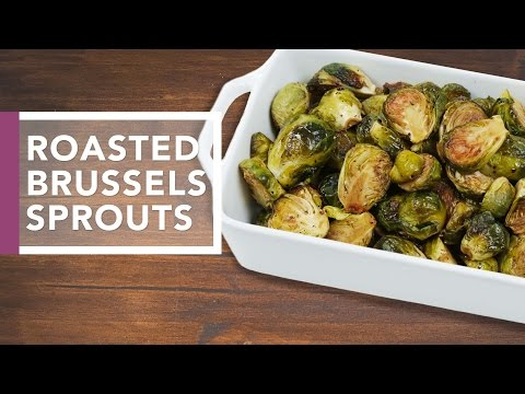 Oven Roasted Brussels Sprouts | Holiday Dinner Recipes