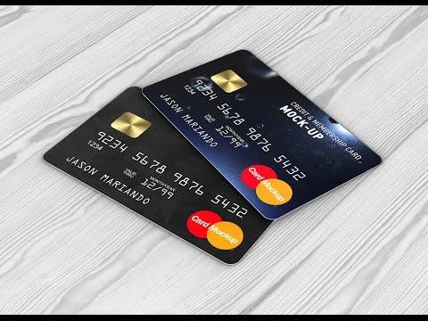 Credit Card Mockup | Bank Card Mock up
