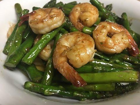 Easy Stir Fry Shrimp with Asparagus Recipe
