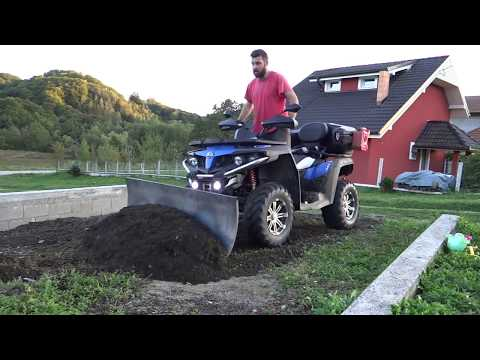 Making snow plow for my cf moto 550