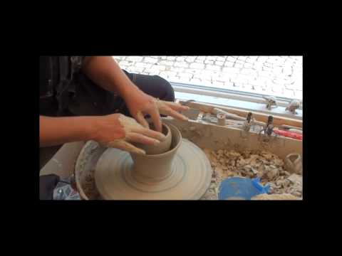 Throwing double wall pot