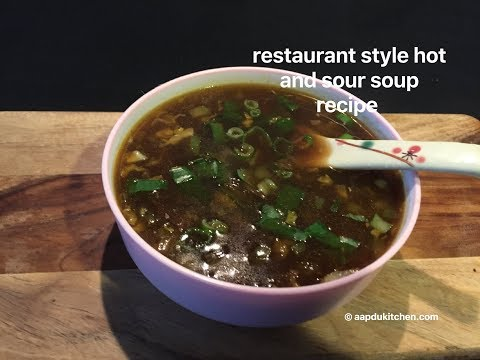 hot and sour soup recipe restaurant style | hot n sour soup recipe | hot & sour soup