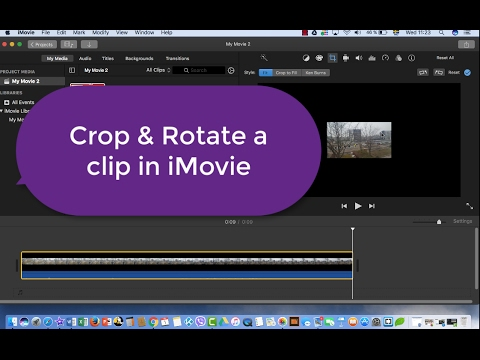 iMovie Tutorial : How to crop and rotate a clip in iMovie