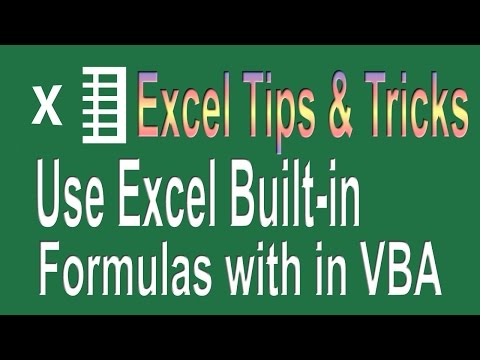 How to use Excel formulas in VBA | Excel VBA Programming Tips n Tricks # 2