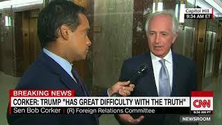 Sen. Corker says Trump is an untruthful president