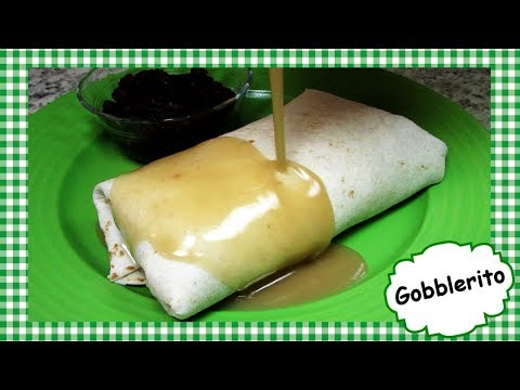 Copycat Mad Mex GOBBLERITO ~ Leftover Thanksgiving Turkey Burrito Recipe
