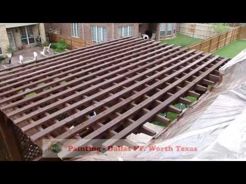 Deck Staining | Pergola, Gazebo, Decks, Painting | Dallas FT. Worth Texas