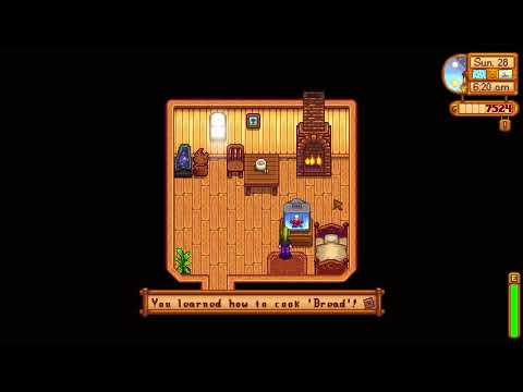 How to learn Bread cooking recipe - Stardew Valley