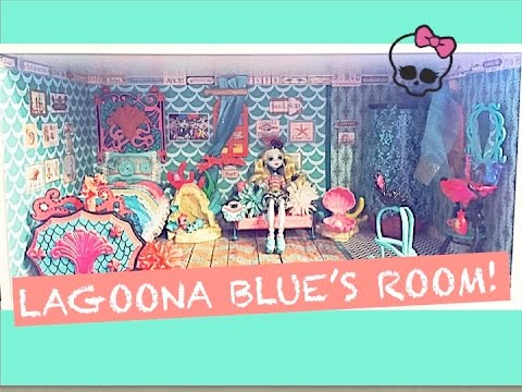 HOW TO MAKE A MONSTER HIGH DOLL ROOM FOR LAGOONA BLUE