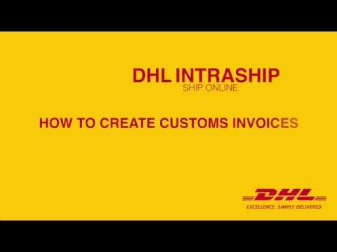 How to create a Customs Invoice