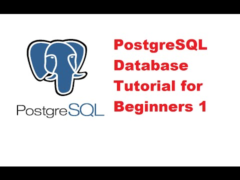 Beginners PostgreSQL database Tutorial 1 - Installing and Setting up PostgreSQL ( pgAdmin )