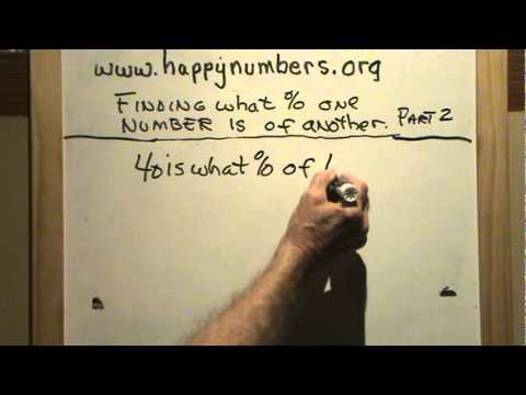 Finding What Percent one Number is of Another 2