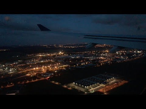 Delta A330 Early Morning Landing in Paris CDG