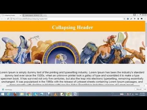 Collapsing Header | HTML and CSS