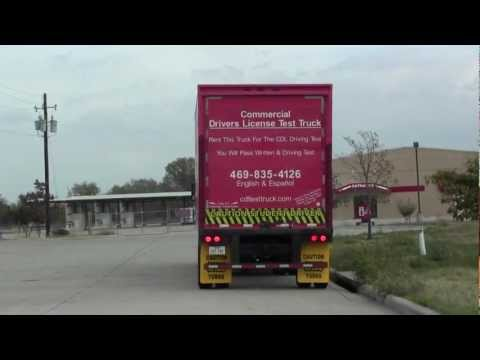Class A CDL Road Test Backing & Parallel Park McKinney, Texas TX 469-332-7188
