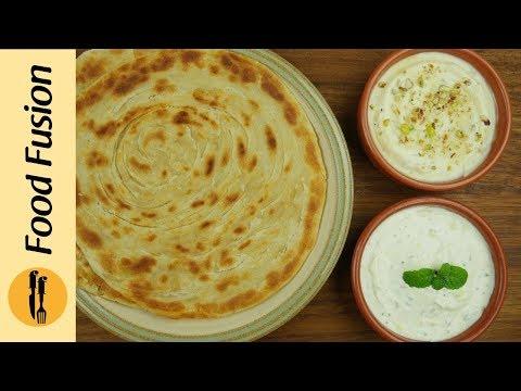 Lacha Paratha wtih Creamy Dips Recipe By Food Fusion