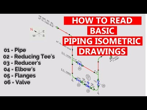 How to Read Basic Piping Isometric Drawings   Piping Official