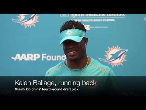 Video: Dolphins' 4th-round pick running back Kalen Ballage