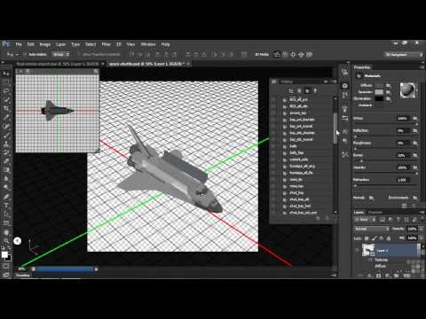 3D Modeling with Adobe Photoshop Tutorial | Exporting 3D Layers As Standard 3D File Types