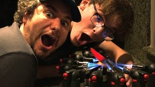 EXPERIMENT Glowing 1000 degree KNIFE ft iDubbbzTV