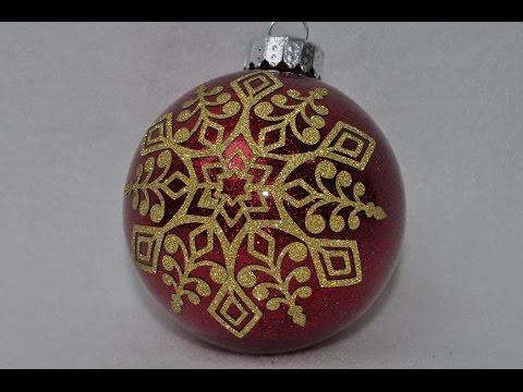 Glittering Snowflake Ornament - Cricut Explore - Count down to Christmas