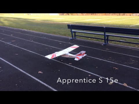 Eflite Apprentice S 15e - Fly-Bys, Loops, Rolls, Touch n' Goes, and Dogs Chasing