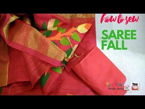Saree Fall Fixing Very Easy Method Full Video
